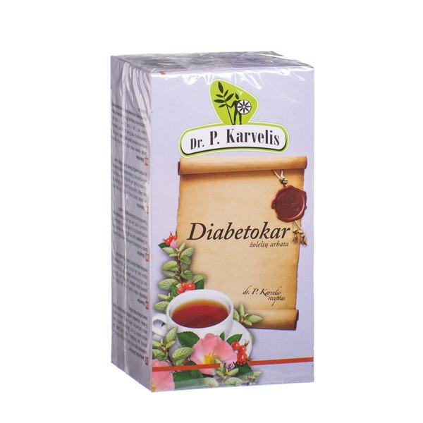 DR. P. KARVELIS DIABETOKAR, žolelių arbata, 1 g, 25 vnt. paveikslėlis