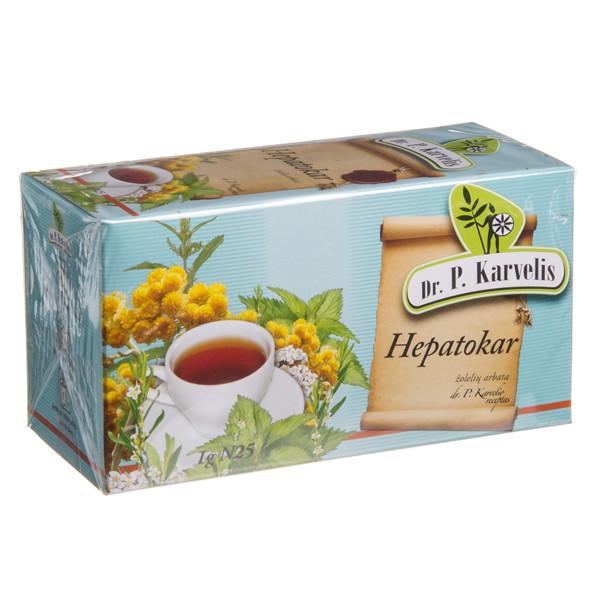 DR. P. KARVELIS HEPATOKAR, žolelių arbata, 1 g, 25 vnt. paveikslėlis