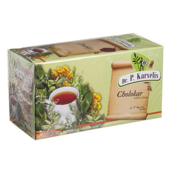 DR. P. KARVELIS CHOLOKAR, žolelių arbata, 1 g, 25 vnt. paveikslėlis