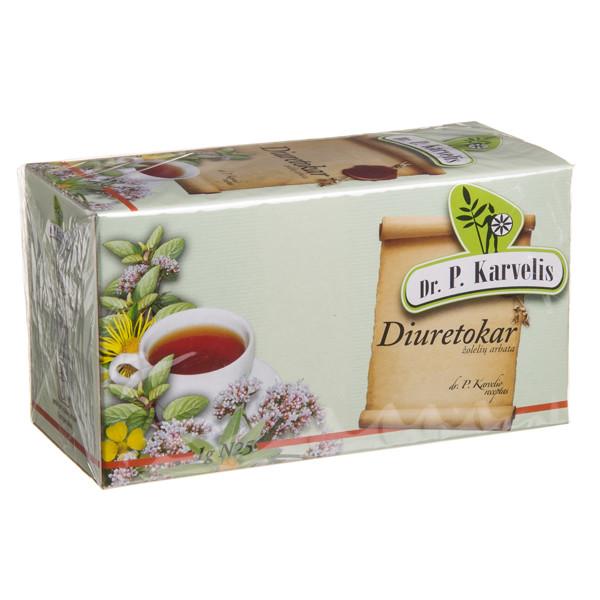 DR. P. KARVELIS DIURETOKAR, žolelių arbata, 1 g, 25 vnt.  paveikslėlis