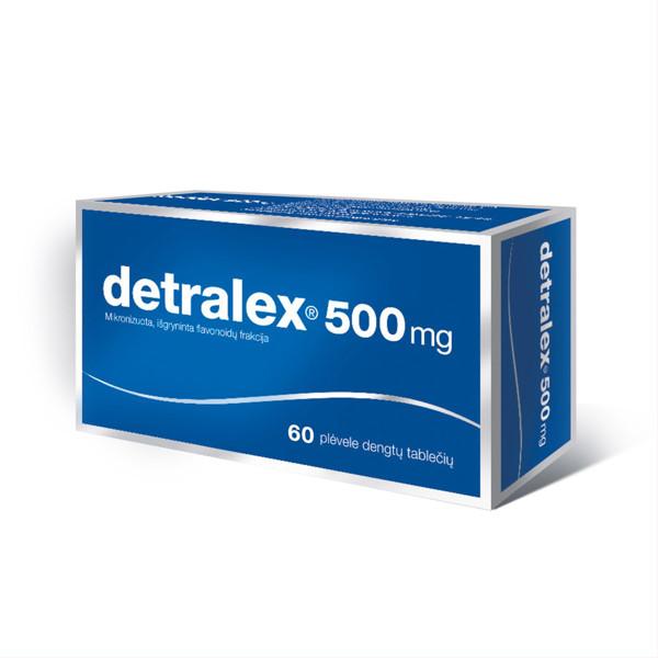 DETRALEX, 500 mg, plėvele dengtos tabletės, N60  paveikslėlis