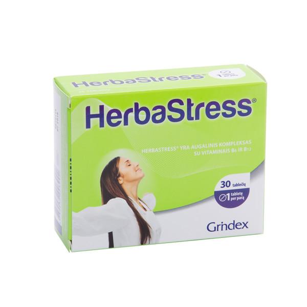 GRINDEX HERBASTRESS, 450 mg, 30 tablečių paveikslėlis