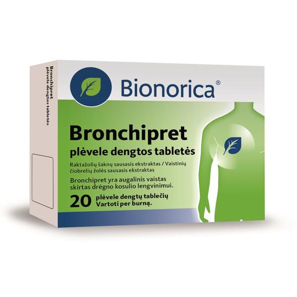 BRONCHIPRET, plėvele dengtos tabletės, N20 paveikslėlis