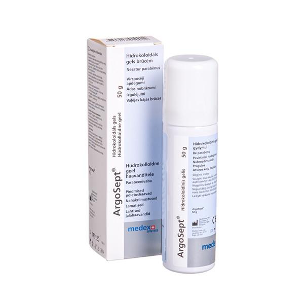 MEDEX SWISS ARGOSEPT, hidrokoloidinis gelis su sidabru, 50 g paveikslėlis
