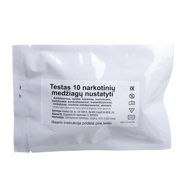 AMERITEK 10, testas 10 narkotinių medžiagų nustatyti  paveikslėlis