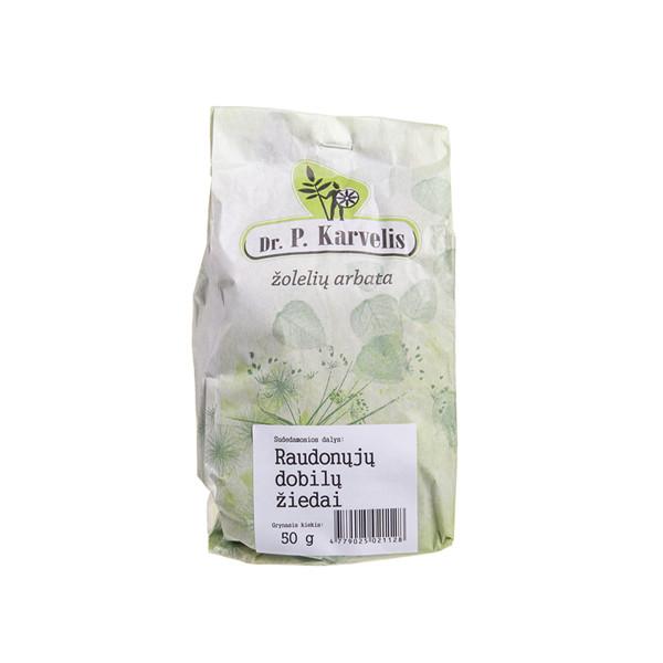 DR. P. KARVELIS RAUDONŲJŲ DOBILŲ ŽIEDAI, žolelių arbata, 50 g paveikslėlis