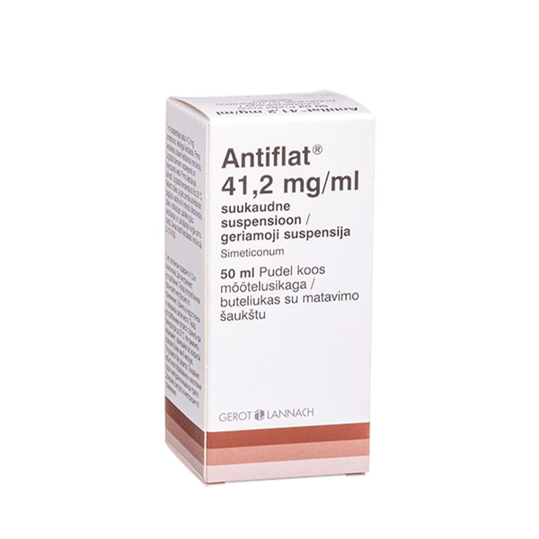 ANTIFLAT, 41,2 mg/ml, geriamoji suspensija, 50 ml paveikslėlis