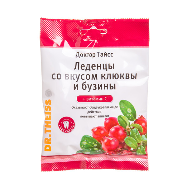 DR. THEISS, ledinukai su spanguolių sultimis ir vitaminu C, 50 g paveikslėlis