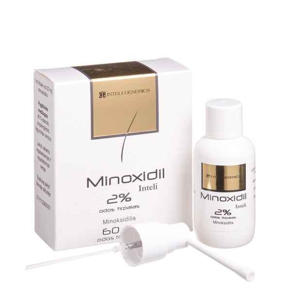 MINOXIDIL INTELI, 20 mg/ml, odos tirpalas, 60 ml, N1 paveikslėlis