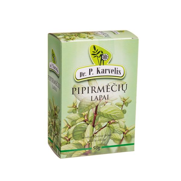 DR. P. KARVELIS PIPIRMĖČIŲ LAPAI, žolelių arbata, 50 g paveikslėlis