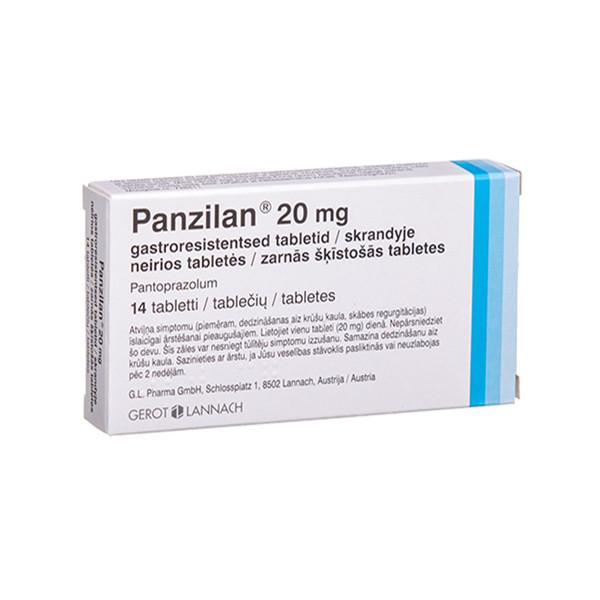 PANZILAN, 20 mg, skrandyje neirios tabletės, N14 paveikslėlis