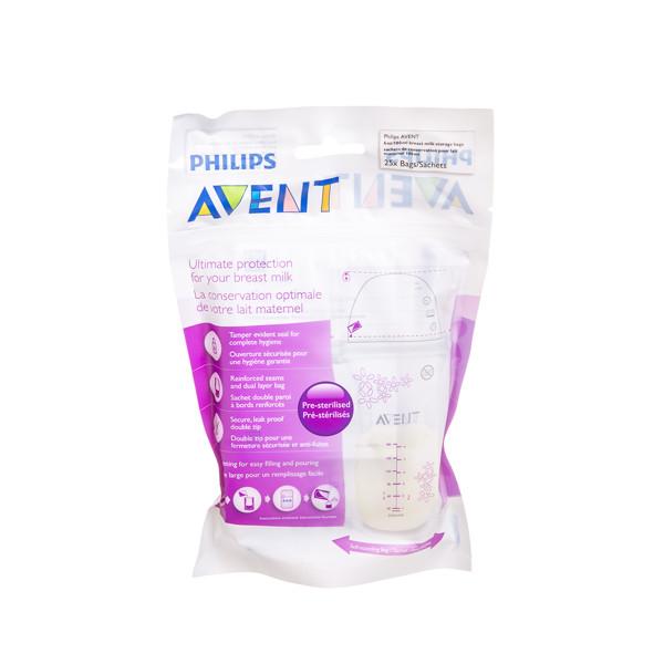 PHILIPS AVENT, maišeliai pieno saugojimui, SCF603/25, 25 vnt., 180 ml paveikslėlis
