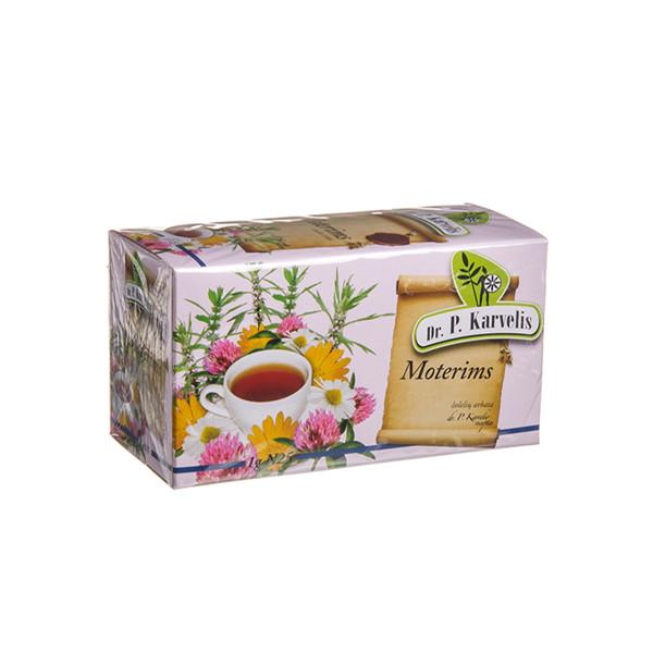 DR. P. KARVELIS MOTERIMS, žolelių arbata, 1 g, 25 vnt. paveikslėlis