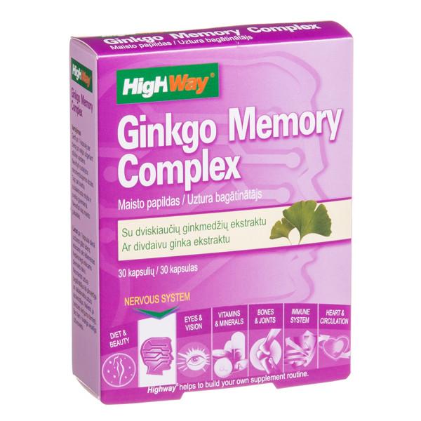 HIGHWAY GINKGO MEMORY COMPLEX, 30 kietųjų kapsulių paveikslėlis