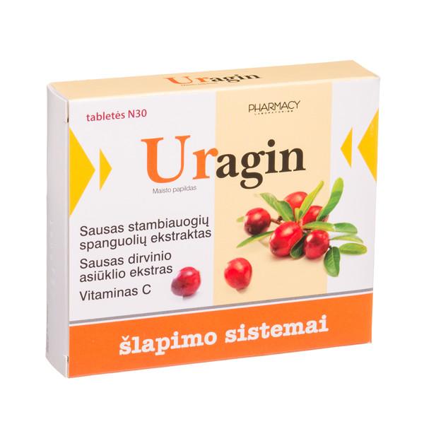 URAGIN, 30 tablečių paveikslėlis