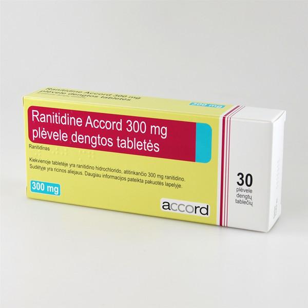 RANITIDINE ACCORD, 300 mg, plėvele dengtos tabletės, N30  paveikslėlis