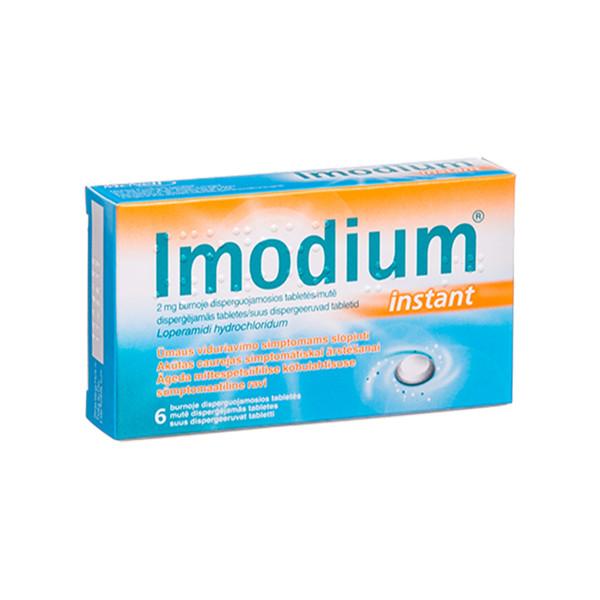 IMODIUM INSTANT, 2 mg, burnoje disperguojamosios tabletės, N6  paveikslėlis