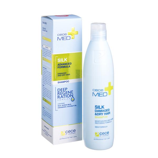 CECE MED, šampūnas su šilko proteinais, 300 ml paveikslėlis