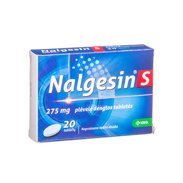NALGESIN S, 275 mg, plėvele dengtos tabletės, N20  paveikslėlis