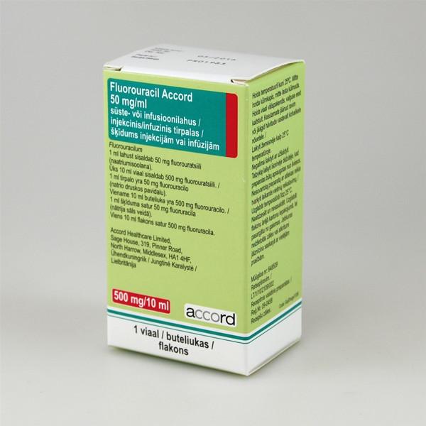 FLUOROURACIL ACCORD, 50 mg/ml, injekcinis/infuzinis tirpalas, 10 ml paveikslėlis