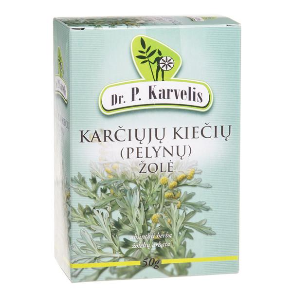 DR. P. KARVELIS KARČIŲJŲ KIEČIŲ (PELYNŲ) ŽOLĖ, žolelių arbata, 50 g  paveikslėlis