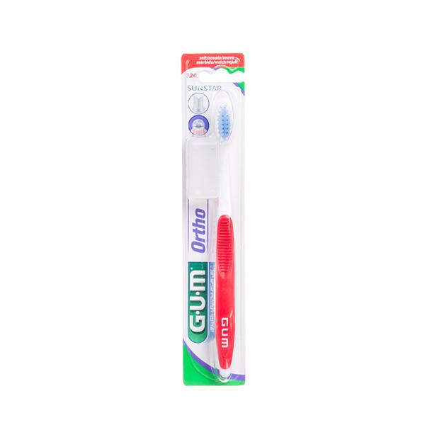 GUM ORTHODONTIC 4-ROW, dantų šepetėlis nešiojantiems breketus paveikslėlis