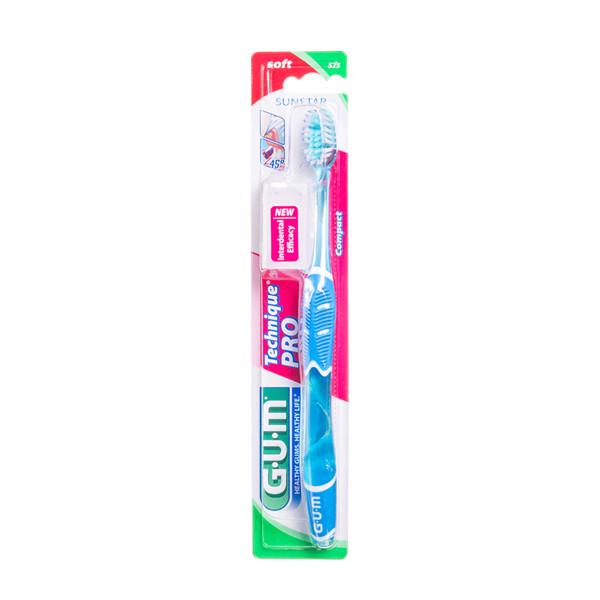 GUM TECHNIQUE PRO + SOFT, dantų šepetėlis,  minkštas paveikslėlis