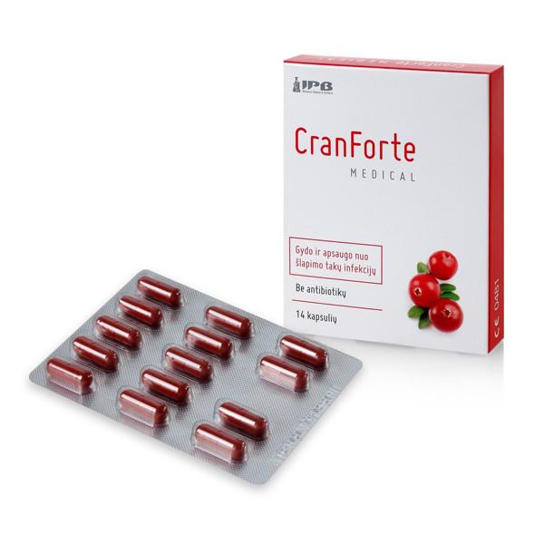 CRANFORTE MEDICAL, 14 kapsulių paveikslėlis