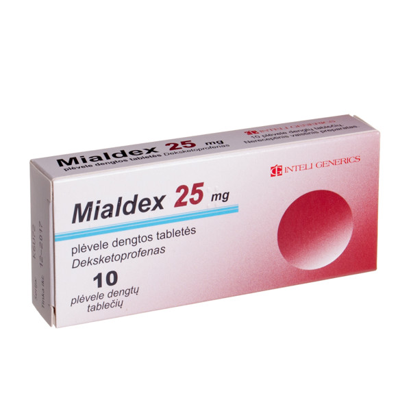 MIALDEX, 25 mg, plėvele dengtos tabletės, N10 paveikslėlis