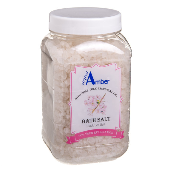 AQUA AMBER, druska voniai su rožmedžio eteriniu aliejumi, 630 g paveikslėlis
