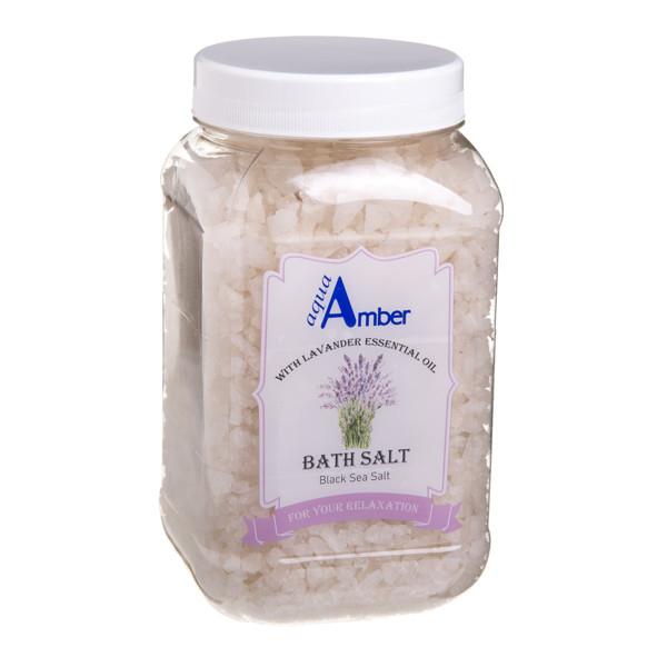 AQUA AMBER, druska voniai su levandų eteriniu aliejumi, 630 g paveikslėlis