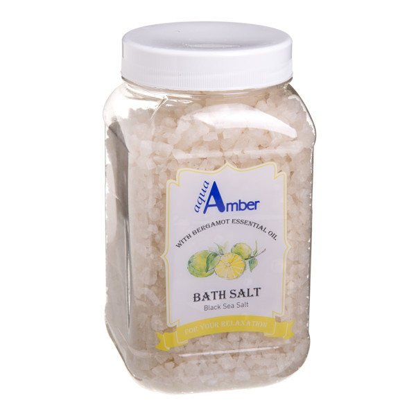 AQUA AMBER, druska voniai  su bergamočių eteriniu aliejumi, 630 g paveikslėlis