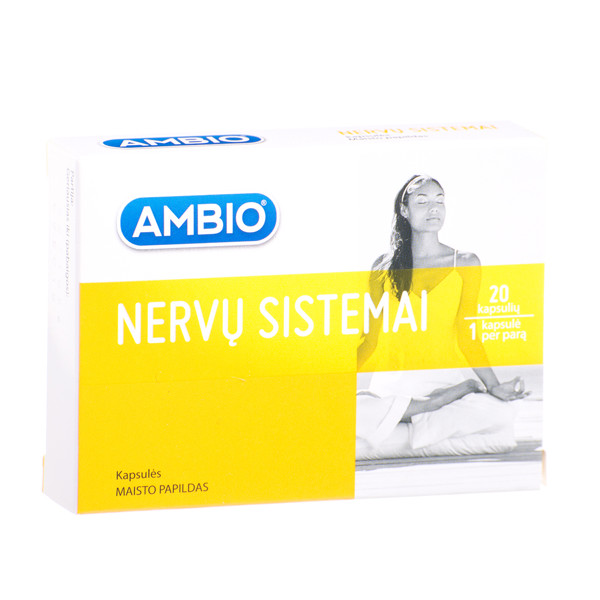 AMBIO NERVŲ SISTEMAI, 20 kapsulių  paveikslėlis