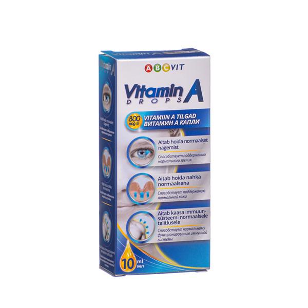 ABC VIT, vitaminas A, lašai, 10 ml  paveikslėlis