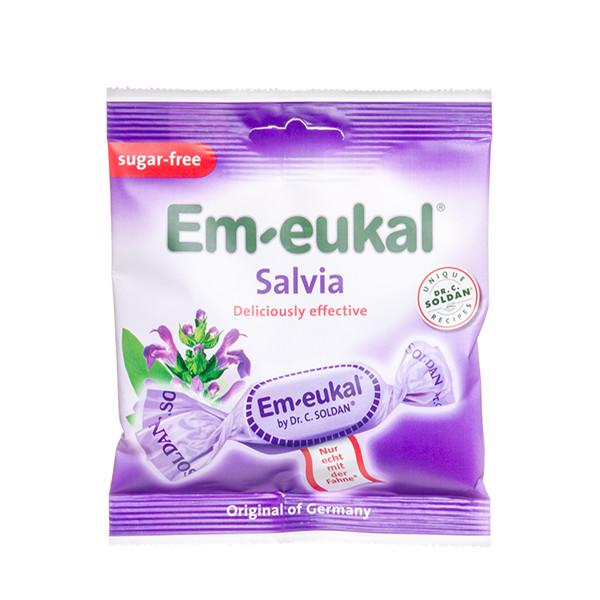 EM-EUKAL, becukrės pastilės, šalavijų skonio su saldikliais ir vitaminu C, 50 g paveikslėlis