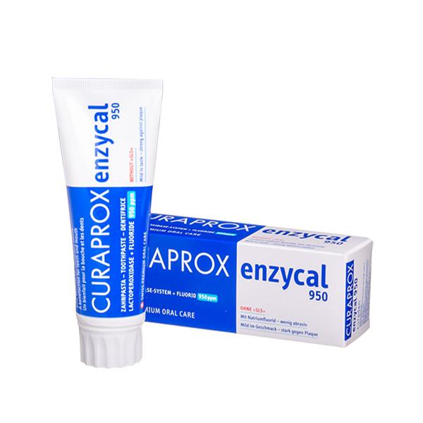 CURAPROX ENZYCAL 950, dantų pasta su fermentais ėduonies profilaktikai, 75 ml  paveikslėlis