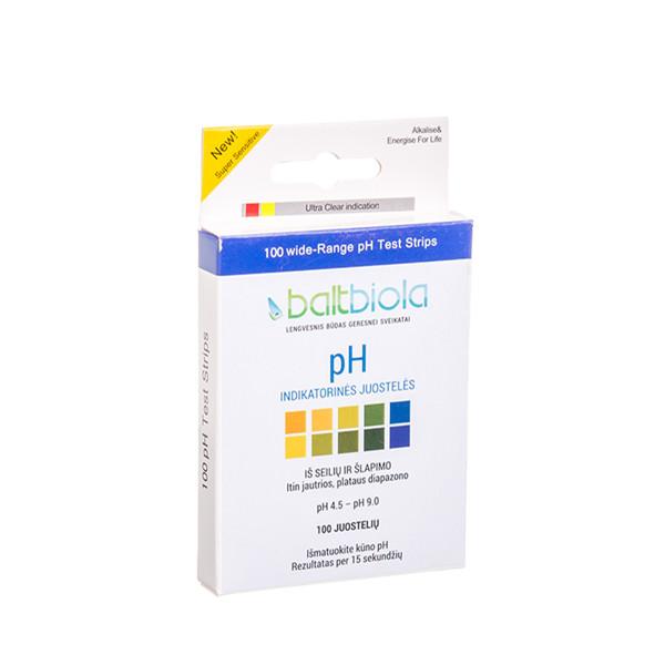 BALTBIOLA, pH indikatorinės juostelės, 100 vnt.  paveikslėlis
