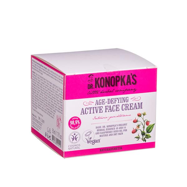 DR. KONOPKA'S, kremas veidui, aktyvus, stabdantis odos senėjimo požymius, 50 ml paveikslėlis