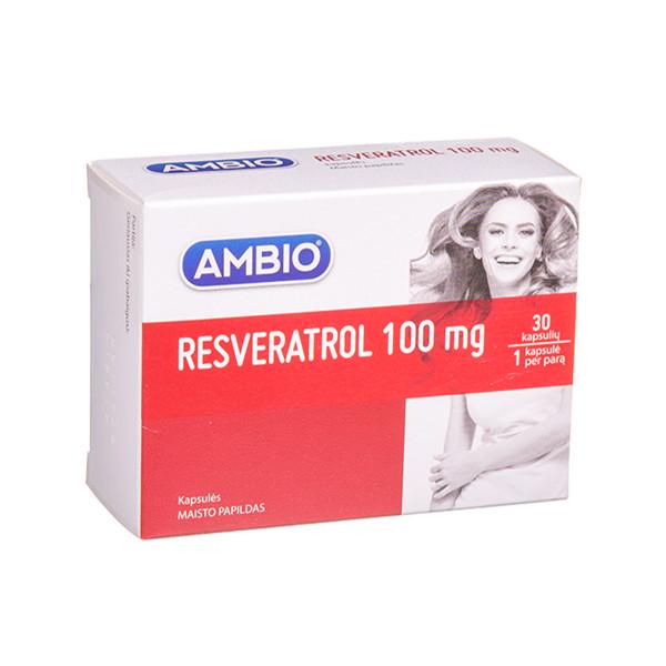AMBIO RESVERATROL, 100 mg, 30 kapsulių paveikslėlis