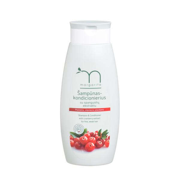 MARGARITA, šampūnas-kondicionierius su spanguolių ekstraktu, 250 ml paveikslėlis