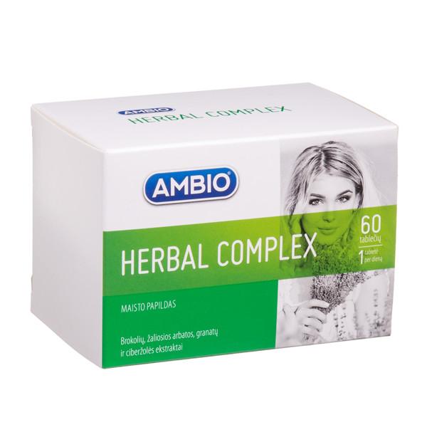 AMBIO HERBAL COMPLEX, 60 tablečių paveikslėlis
