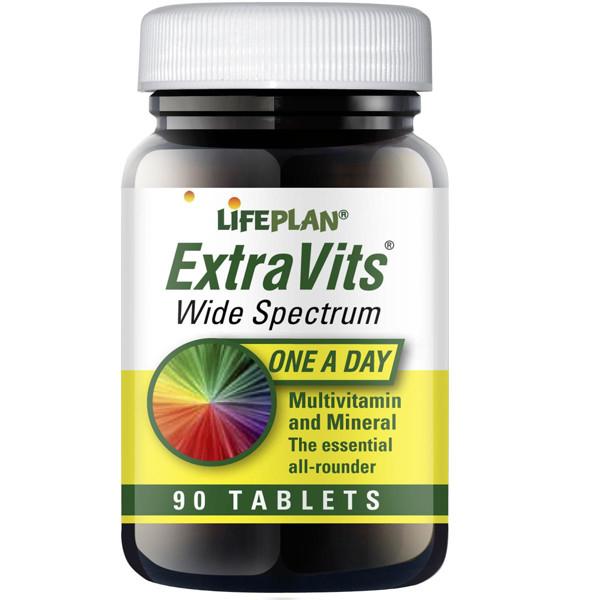LIFEPLAN EXTRAVITS, multivitaminų kompleksas, 30 tablečių paveikslėlis