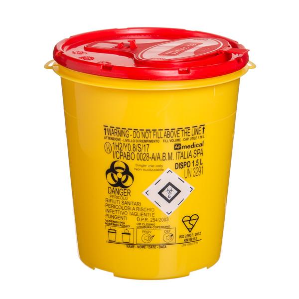 Konteineris aštrioms, pavojingoms atliekoms, 1,5 l paveikslėlis