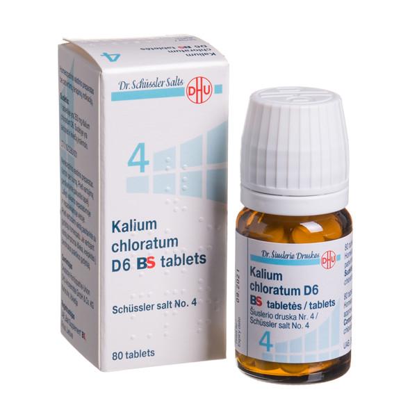KALIUM CHLORATUM D6 BS, Šiuslerio druska Nr. 4, tabletės, N80  paveikslėlis