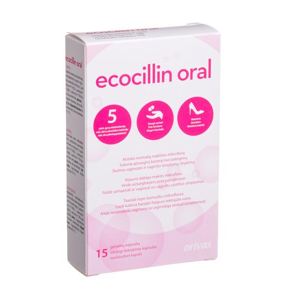 ORIVAS ECOCILLIN ORAL, 15 kapsulių paveikslėlis