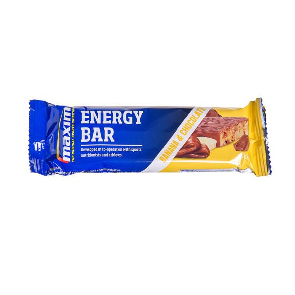 MAXIM ENERGY, bananų ir šokolado skonio batonėlis,  55 g paveikslėlis