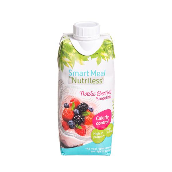 NUTRILESS, nugriebto pieno jogurto ir aviečių bei miško uogų sulčių gėrimas, 330 ml paveikslėlis