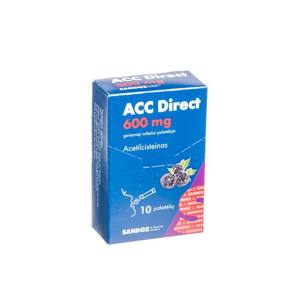 ACC DIRECT, 600 mg, geriamieji milteliai paketėlyje, 1,6 g, N10  paveikslėlis