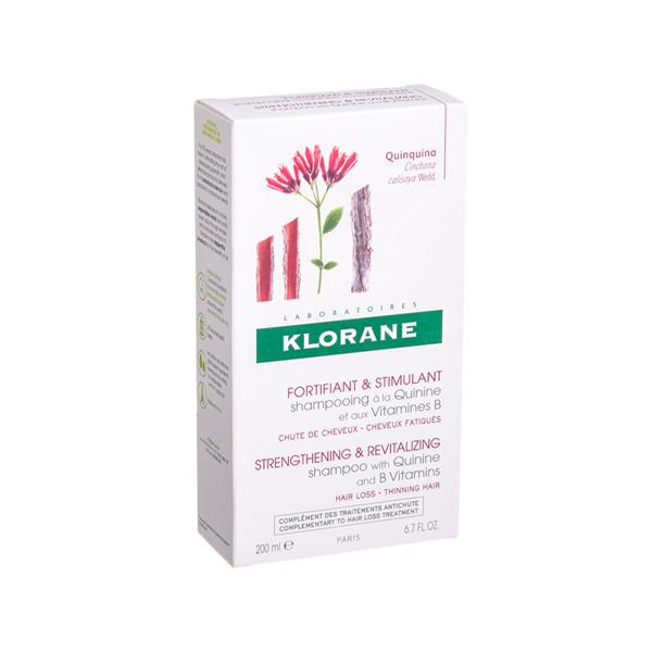 KLORANE, šampūnas su chininu ir B grupės vitaminais, 200 ml  paveikslėlis