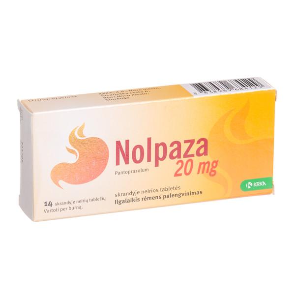 NOLPAZA, 20 mg, skrandyje neirios tabletės, N14 paveikslėlis